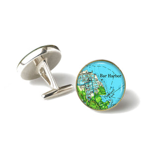 Bar Harbor Green Cufflinks