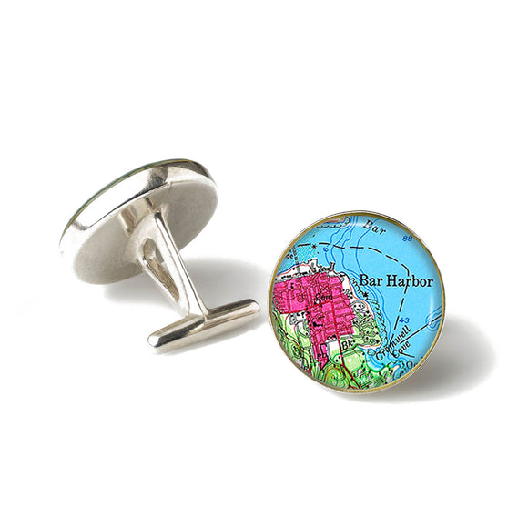 Bar Harbor Pink Cufflinks