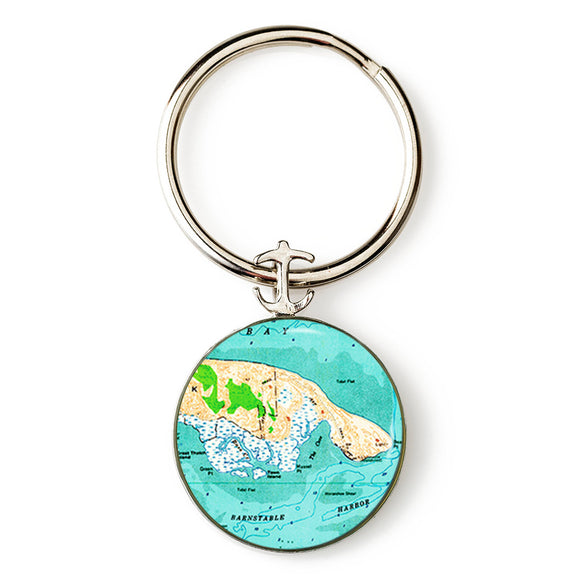 Barnstable Harbor Anchor Key Ring