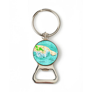 Barnstable Harbor Combination Bottle Opener with Key Ring
