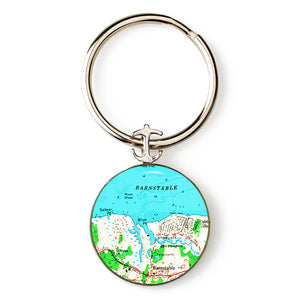 Barnstable Anchor Key Ring