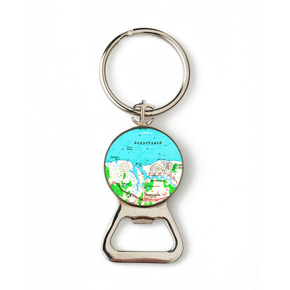 Barnstable Combination Bottle Opener with Key Ring