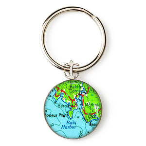 Bass Harbor Anchor Key Ring