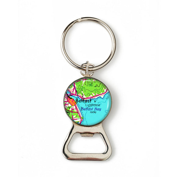 Belfast Lighthouse Combination Bottle Opener with Key Ring