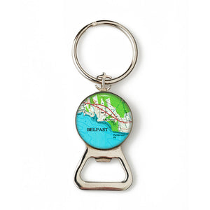 Belfast Patterson Point Combination Bottle Opener with Key Ring