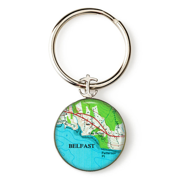 Belfast Patterson Point Key Ring