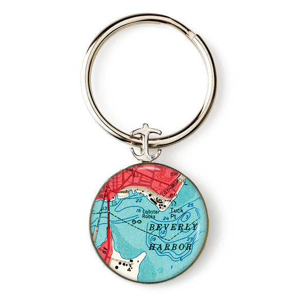 Beverly Harbor Anchor Key Ring