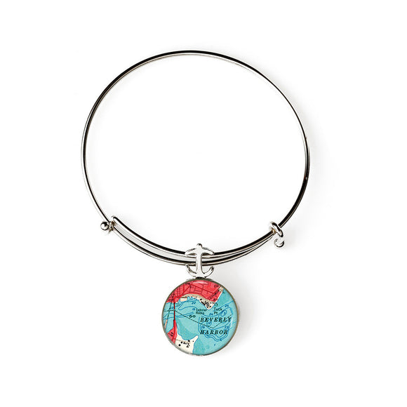 Beverly Harbor Expandable Bracelet with Anchor Charm