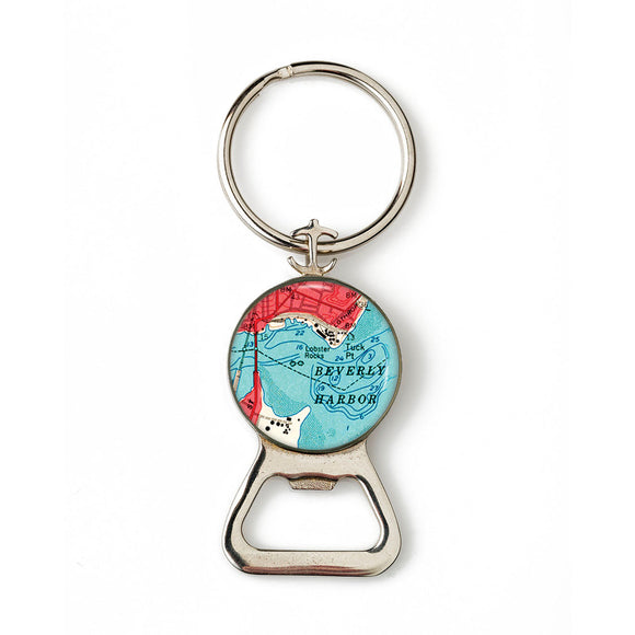 Beverly Harbor Combination Bottle Opener with Key Ring