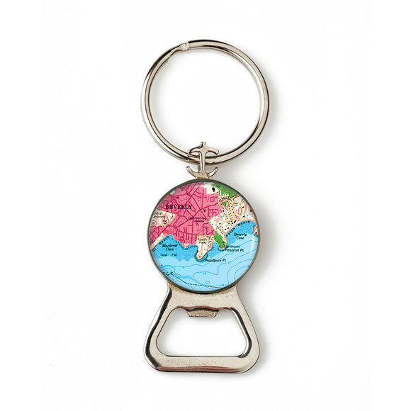 Beverly Mac Cove Combination Bottle Opener with Key Ring