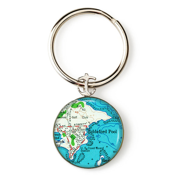 Biddeford Pool Anchor Key Ring