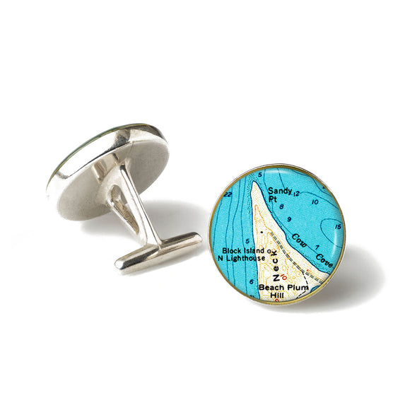 Block Island Sandy Point Lighthouse Cufflinks