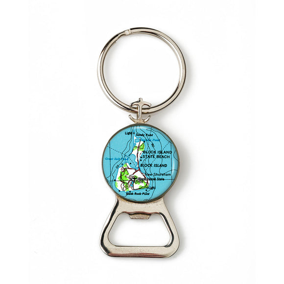 Block Island Combination Bottle Opener With Key Ring