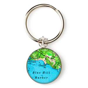Blue Hill Closson Point Anchor Key Ring