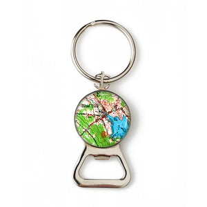 Blue Hill Inner Harbor Anchor Combination Bottle Opener with Key Ring