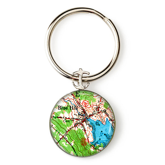 Blue Hill Inner Harbor Anchor Key Ring