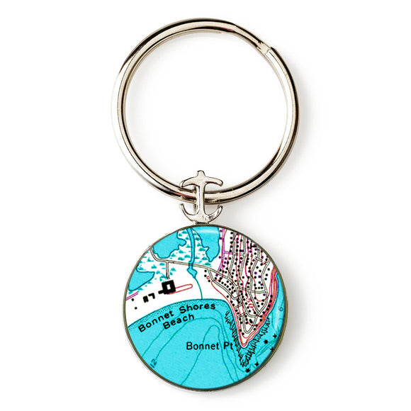Bonnet Shores  Anchor Key Ring