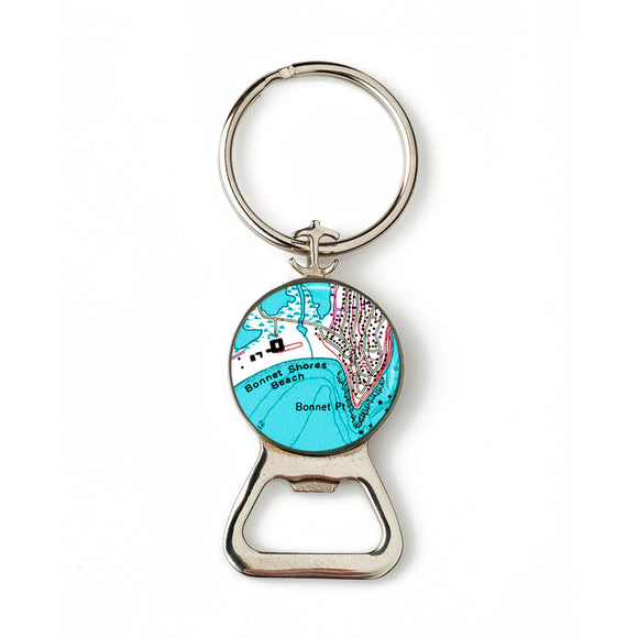 Bonnet Shores  Combination Bottle Opener With Key Ring