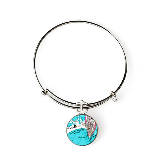 Bonnet Shores  Expandable Bracelet with Anchor Charm