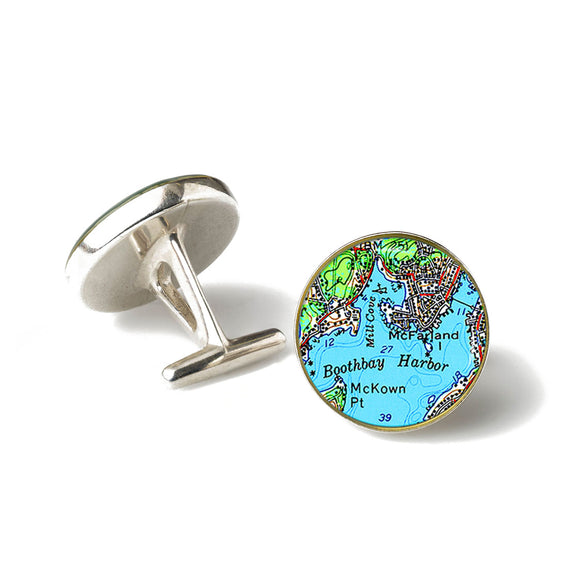 Boothbay Harbor 1 Cufflinks