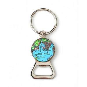 Boothbay Harbor 1 Combination Bottle Opener with Key Ring