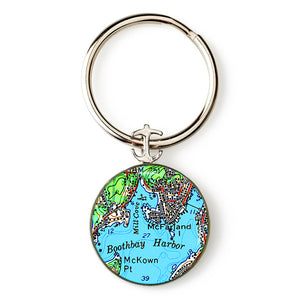 Boothbay Harbor 1 Key Ring