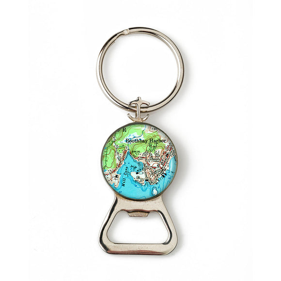 Boothbay Harbor 2 Combination Bottle Opener with Key Ring