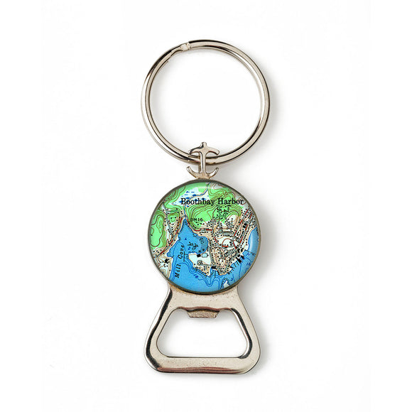 Boothbay Harbor 3 Combination Bottle Opener with Key Ring