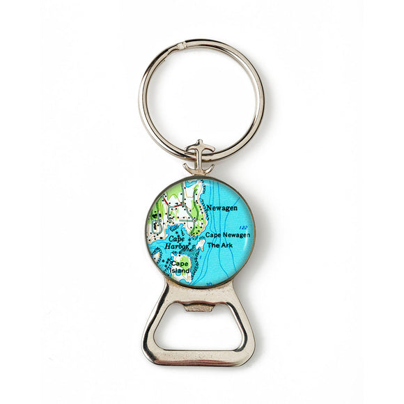 Boothbay Newagen Combination Bottle Opener with Key Ring