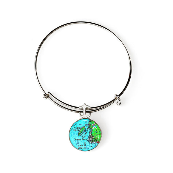 Boothbay Ocean Point 1 Expandable Bracelet with Anchor Charm