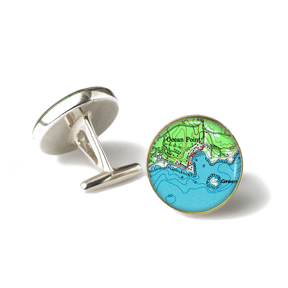 Boothbay Ocean Point 2 Cufflinks