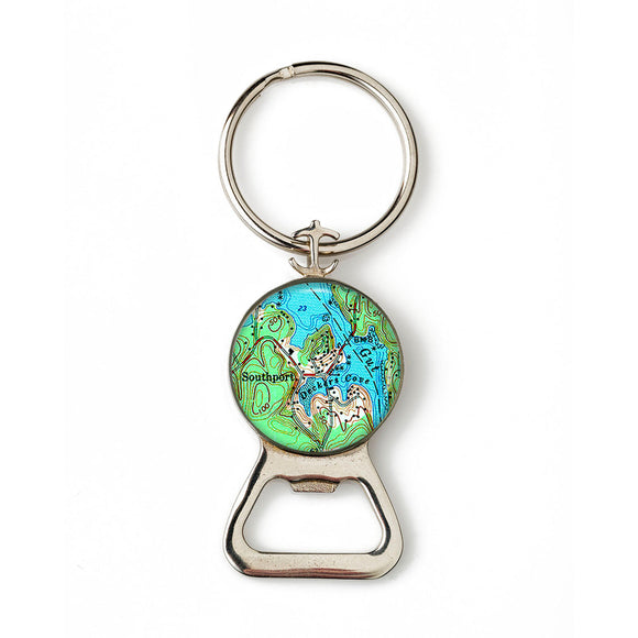 Boothbay Southport Deckers Cove Combination Bottle Opener with Key Ring