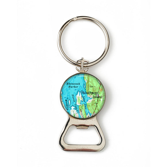 Boothbay Southport Ebenecook Combination Bottle Opener with Key Ring
