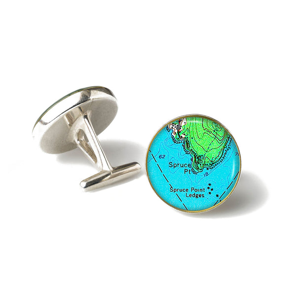 Boothbay Spruce Point Cufflinks
