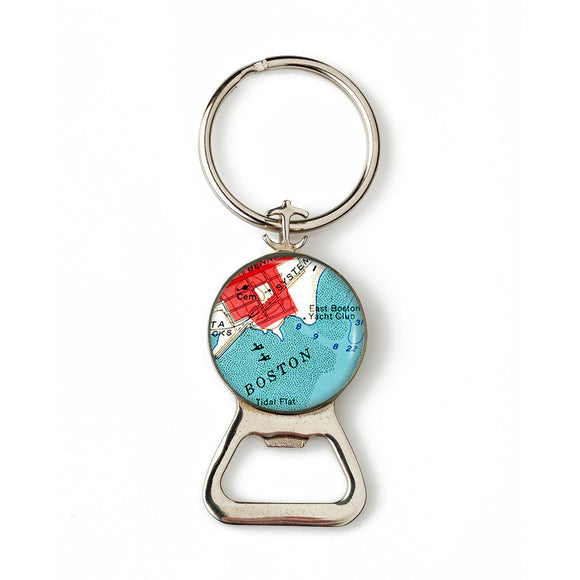 Boston Harbor Combination Bottle Opener with Key Ring