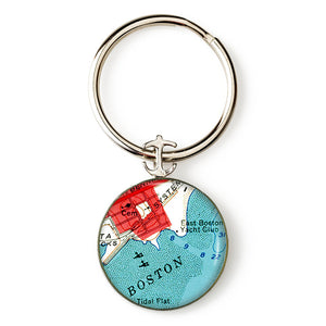 Boston Harbor Anchor Key Ring