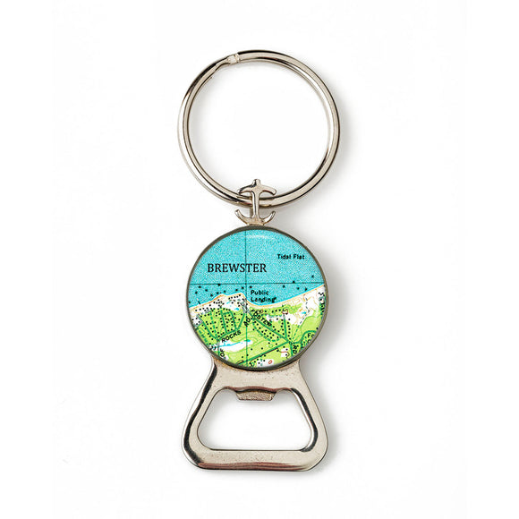 Brewster Combination Bottle Opener with Key Ring