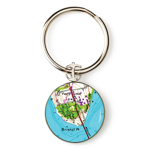 Bristol Point Anchor Key Ring