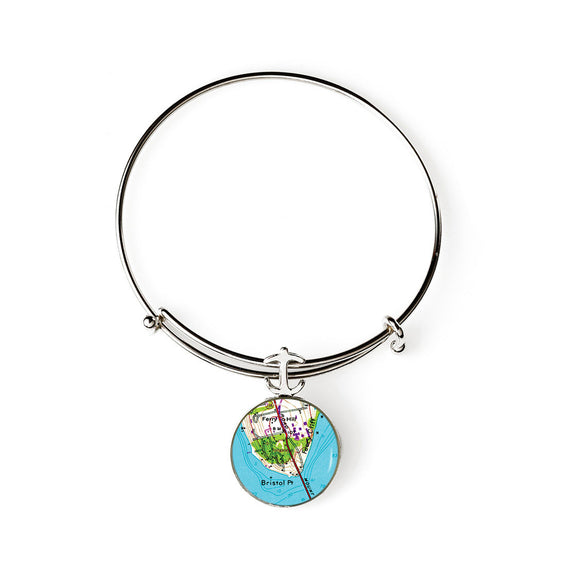 Bristol Point Expandable Bracelet with Anchor Charm