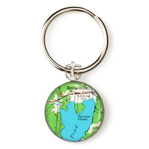 Brooksville Anchor Key Ring
