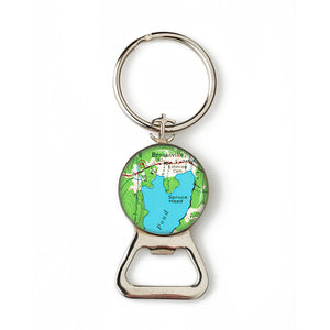 Brooksville Anchor Combination Bottle Opener with Key Ring
