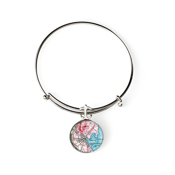 Camden 3 Expandable Bracelet with Anchor Charm