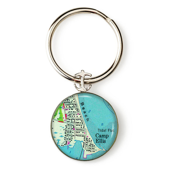 Camp Ellis Anchor Key Ring