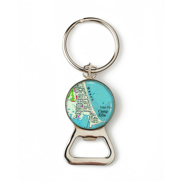 Camp Ellis Combination Bottle Opener with Key Ring