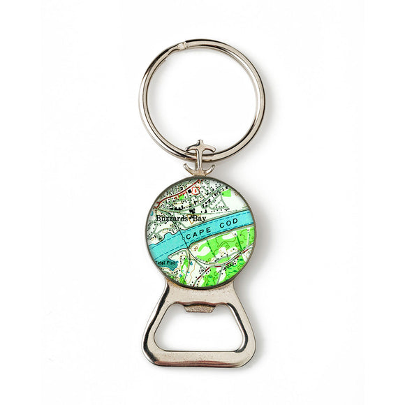 Cape Cod Buzzards Bay Combination Bottle Opener with Key Ring