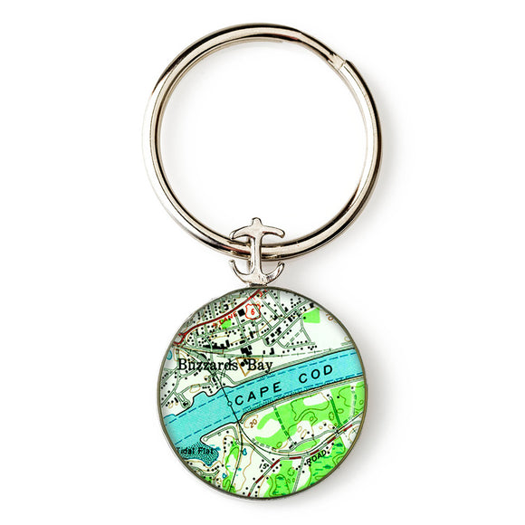 Cape Cod Buzzards Bay Anchor Key Ring
