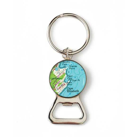 Cape Elizabeth Dyer Cove Combination Bottle Opener With Key Ring
