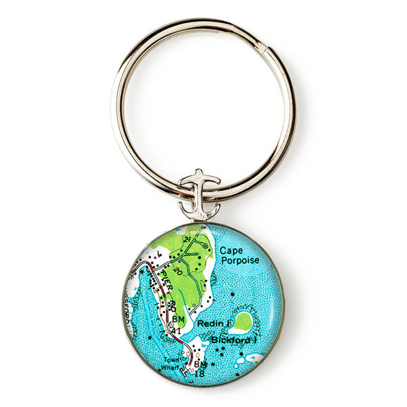 Cape Porpoise Anchor Key Ring