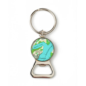 Castine Bagaduce River Anchor Combination Bottle Opener with Key Ring
