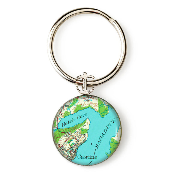 Castine Bagaduce River Anchor Key Ring